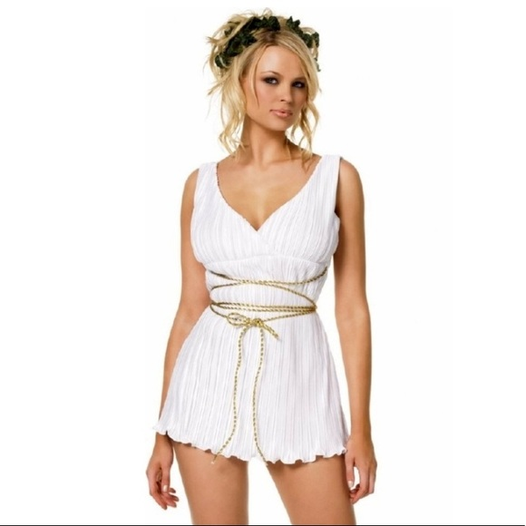db2e01c57a204 LEG AVE GREEK GODDESS TOGA DRESS Halloween costume NWT